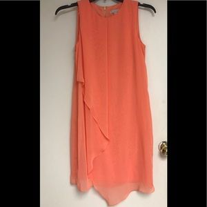 Dresses & Skirts - NWOT coral chiffon dress and gold zipper